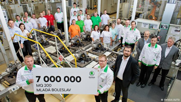 Mlada Boleslav workforce at Skoda