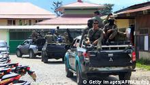 Indonesien Bauarbeiter durch Rebellen ermordet