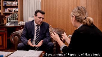 Ο πρωθυπουργός της ΠΓΔΜ με την Κατερίνα Μπλαζέφκσα