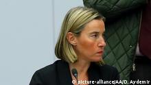 BRUSSELS, BELGIUM - DECEMBER 05: High Representative of the European Union for Foreign Affairs and Security Policy, Federica Mogherini (R) attends the NATO Foreign Ministers' meeting with Afghanistan agenda on day two in Brussels, Belgium on December 05, 2018. Dursun Aydemir / Anadolu Agency   Keine Weitergabe an Wiederverkäufer.
