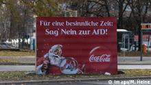 Fake anti-AfD ad (imago/M. Heine)