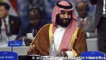 Saudi Arabien Kronprinz Mohammed bin Salman (picture-alliance/AP Photo/G20 Press Office)