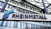 ARCHIV - 15.03.2018, Nordrhein-Westfalen, Düsseldorf: Der Unternehmenssitz der Rheinmetall AG. Rheinmetall veröffentlicht am Donnerstag seine Quartalszahlen. Foto: Marius Becker/dpa +++ dpa-Bildfunk +++ | Verwendung weltweit