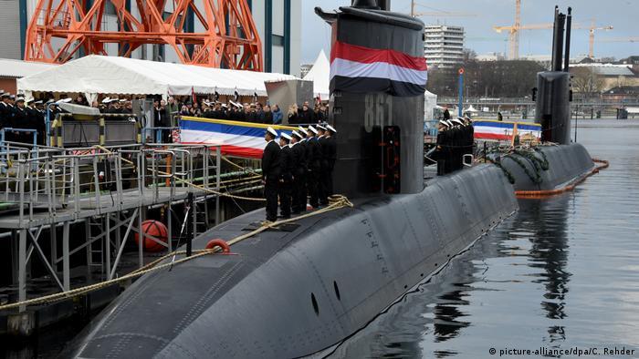 Подводная лодка в Киле, построенная ThyssenKrupp Marine Systems для Египта