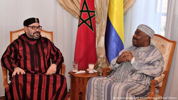 Mohammed VI, Ali Bongo Ondimba (picture-alliance/AP Photo/Moroccan Royal Palace)