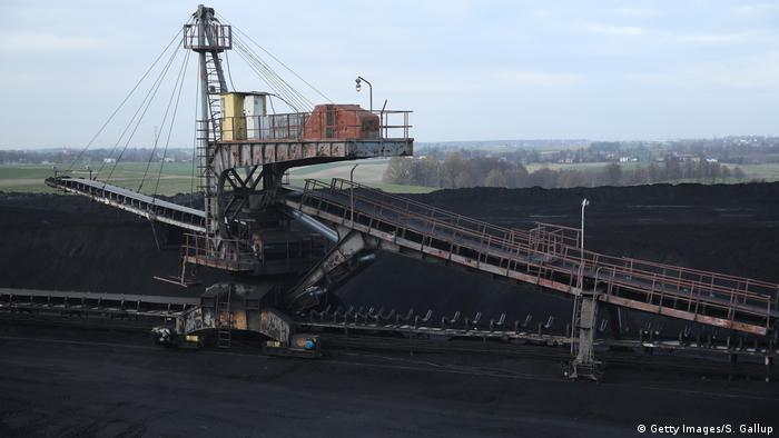 High-grade coal lies in a heap before transport at the KWK Pniowek coal mine in Pawlowice, Poland.