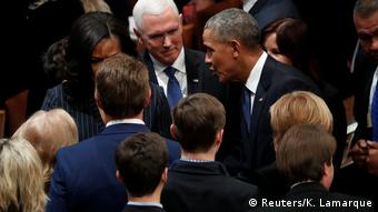 USA Begräbnis George H.W. Bush Senior l Trauergemeinde - Barack Obama und Mike Pence (Reuters/K. Lamarque)