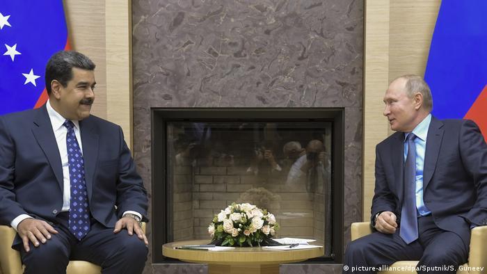Venezuela Präsident Nicolas Maduro trifft russischen Präsident Wladimir Putin (picture-alliance/dpa/Sputnik/S. Guneev)