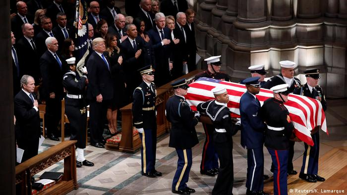 Funeral de Bush ocorreu na Catedral Nacional de Washington