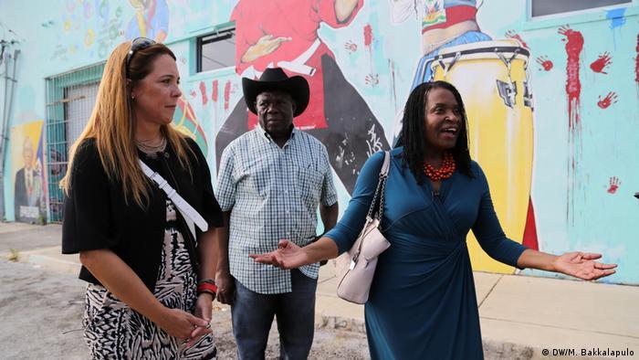 Yoca Arditi-Rocha, Louis Ramond and Marlene Bastien in Little Haiti