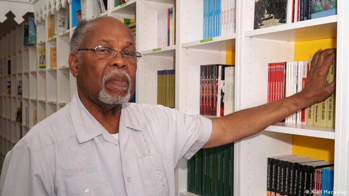 Jan Mapou, the owner of Libreri Mapou, a renowned bookstore