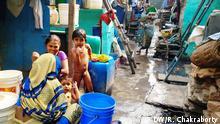 Indien Slumbewohner in Delhi