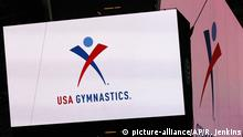 USA, Arlington, Texas: Das Logo der USA Gymnastics