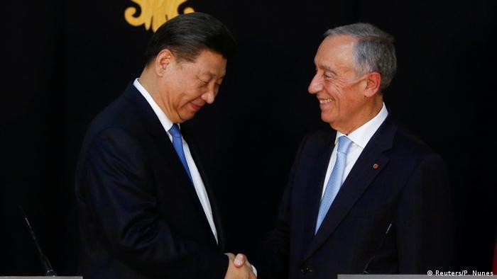 Portugal Marcelo Rebelo de Sousa empfängt Xi Jinping (Reuters/P. Nunes)