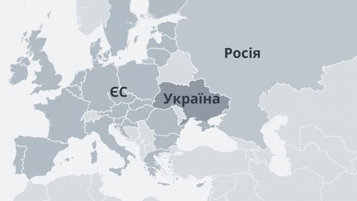 Karte Ukraine EU Russland UK