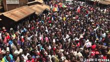 Wahlkampagne des Kandidaten Félix Antoine Tshilombo Tshisekedi in Katana am 6.12.2018. Foto: Lydie Omanga