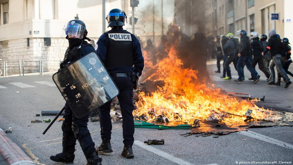 Image result for yellow vest riots france