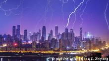 China Gewitter über Chongqing