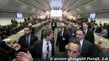 Thursday, Dec. 6, 2018*** General view of a meeting of oil ministers of the Organization of the Petroleum Exporting Countries, OPEC, at their headquarters in Vienna, Austria, Thursday, Dec. 6, 2018. (AP Photo/Ronald Zak) |