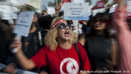 Tunesien Proteste in Tunis (picture-alliance/AP Photo/H. Dridi)