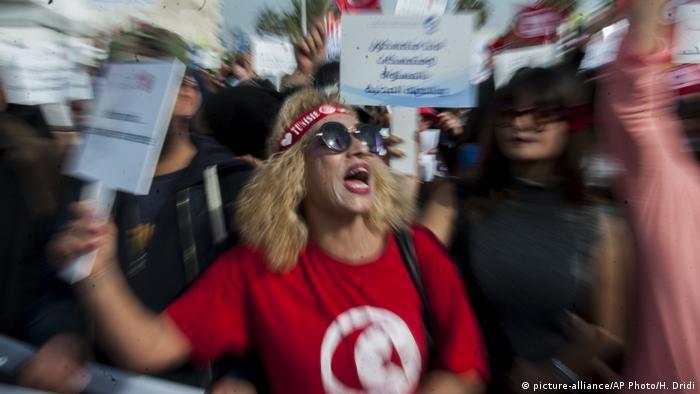 Tunesien Proteste in Tunis (picture-alliance/AP Photo/H. Dridi)