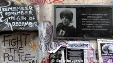 Griechenland Gedenktafel Alexandros Grigoropoulos in Athen