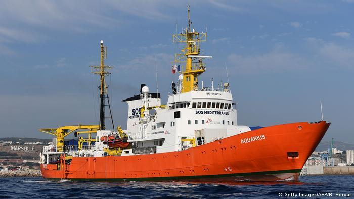 Frankreich 2018 Rettungsboot Aquarius im Hafen von Marseille (Getty Images/AFP/B. Horvat)