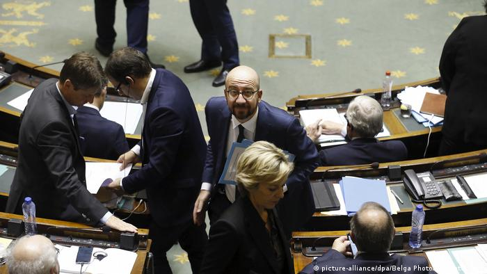 Belgien Abstimmung UN-Migrationspakt | Parlament in Brüssel | Charles Michel, Premierminister (picture-alliance/dpa/Belga Photo/N. Maeterlinck)