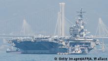 US-Armee Flugzeugträger USS Ronald Reagan in Hongkong