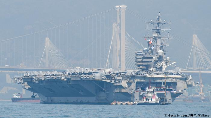 US-Armee Flugzeugträger USS Ronald Reagan in Hongkong (Getty Images/AFP/A. Wallace)