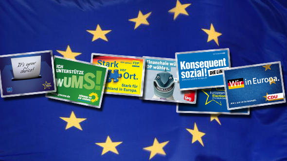 Europawahl Contentbanner Plakate Wahlplakate Flash-Galerie