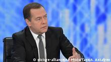 Russland TV Interview Dmitri Medwedew
