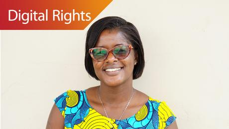 Vivian Affoah, Senior Programme Officer for Freedom of Expression Media Foundation for West Africa (MFWA) in Accra, Ghana (DW/J. Endert)