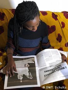 Belgian artist Laura Nsengiyumva