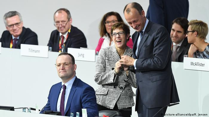 Jens Spahn, Annegret Kramp-Karrenbauer, and Friedrich Merz (picture-alliance/dpa/R. Jensen)