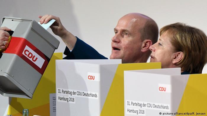 Merkel votes