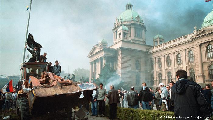 Proteste gegen Milosevic in Belgrad, Jugoslawien