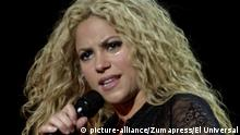 October 10, 2018 - EUM20181010ESP21.JPG.CIUDAD DE MÉXICO, SingerCantante-Shakira.- 10 octubre 2018. Sonriente, seductora, rizos dorados y movimientos de cadera, con esta imagen y ritmo Shakira ha dado la vuelta a un mundo que hace 26 años parecía ser sólo una ilusión. Hoy, a sus 41 años, un look más sensual y melena rubia a juego son sus cartas de presentación, y así regresa a territorio mexicano, este jueves 11 de octubre y viernes 12 en el Estadio Azteca, luego de una espera de casi ocho años. Foto: Archivo Agencia EL UNIVERSALAFBV |