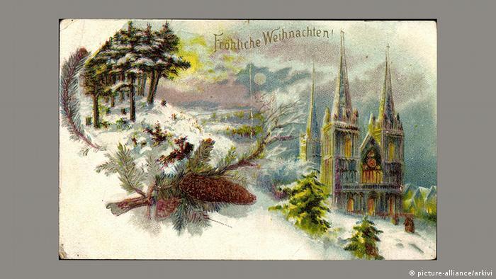 Рождественская почтовая открытка, 1900 год