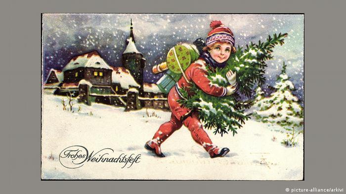 Рождественская почтовая открытка, 1937 год