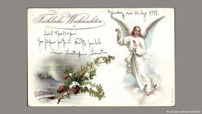 Рождественская почтовая открытка, 1899 год