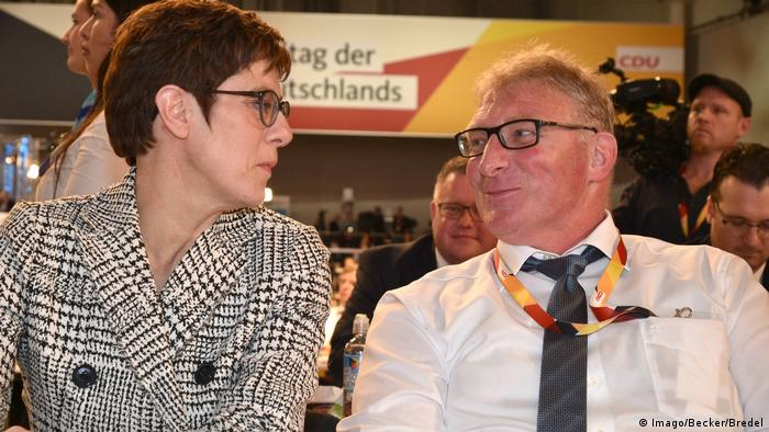 Kramp-Karrenbauer with her husband, Helmut (Imago/Becker/Bredel)