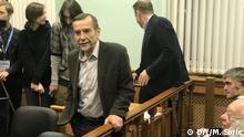 07.12.2018 Menschenrechtsaktivisten Lew Ponomarjow während des heutigen Prozess in Moskau