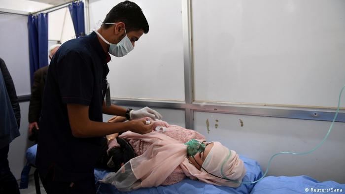Syrien Krieg in Aleppo | mutmaßlicher Giftgasangriff (Reuters/Sana)
