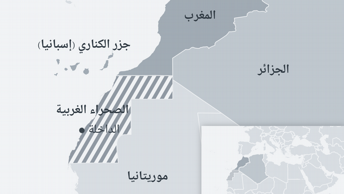 Karte Nord-West Afrika AR