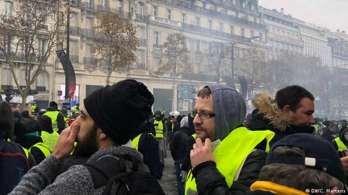 Gelbwestenprotest in Paris (DW/C. Martens)