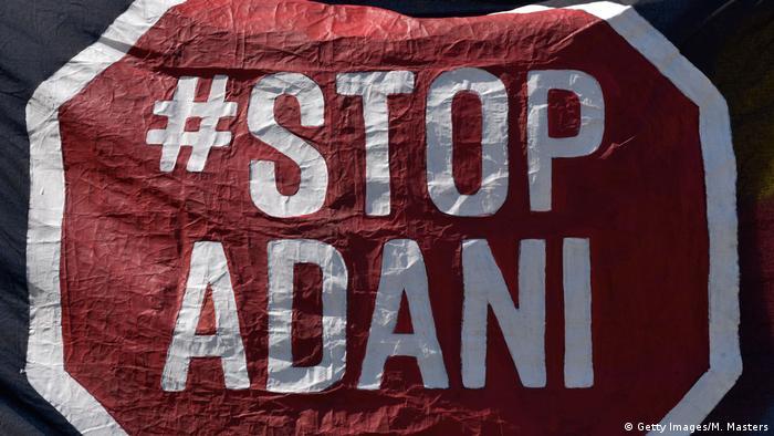 Symbolbild Australien Protest gegen Kohlebergbau von Adani