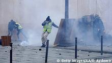 Frankreich Paris Proteste Gelb-Westen Gilet Jaunes