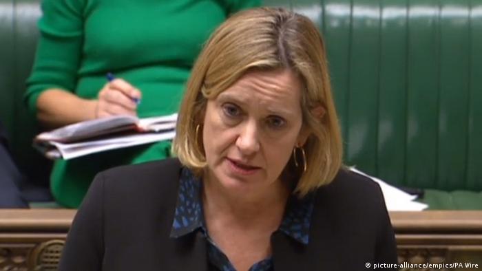 UK Arbeitsministerin Amber Rudd im Unterhaus (picture-alliance/empics/PA Wire)