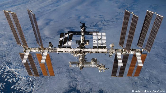 The International Space Station as seen from outer space